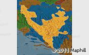 Political Map of Federacija Bosne i Hercegovine, darken