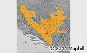 Political Map of Federacija Bosne i Hercegovine, desaturated