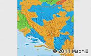 Political Map of Federacija Bosne i Hercegovine