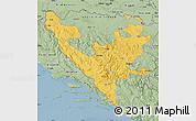 Savanna Style Map of Federacija Bosne i Hercegovine