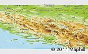 Physical Panoramic Map of Federacija Bosne i Hercegovine