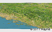 Satellite Panoramic Map of Federacija Bosne i Hercegovine