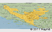 Savanna Style Panoramic Map of Federacija Bosne i Hercegovine