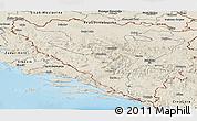 Shaded Relief Panoramic Map of Federacija Bosne i Hercegovine