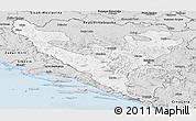 Silver Style Panoramic Map of Federacija Bosne i Hercegovine