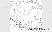 Blank Simple Map of Federacija Bosne i Hercegovine