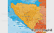 Political Shades Map of Bosnia and Herzegovina
