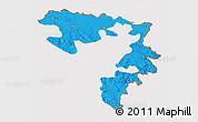 Political 3D Map of Republika Srpska, cropped outside