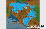 Political 3D Map of Republika Srpska, darken