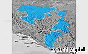 Political 3D Map of Republika Srpska, desaturated