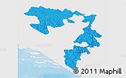 Political 3D Map of Republika Srpska, single color outside