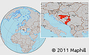 Gray Location Map of Republika Srpska