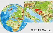 Physical Location Map of Republika Srpska