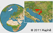 Satellite Location Map of Republika Srpska