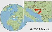 Savanna Style Location Map of Republika Srpska