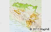 Physical Map of Republika Srpska, lighten
