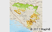 Physical Map of Republika Srpska, shaded relief outside