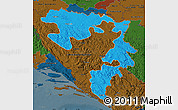 Political Map of Republika Srpska, darken