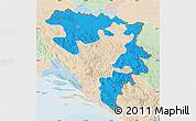Political Map of Republika Srpska, lighten