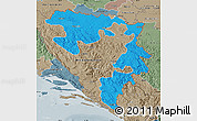 Political Map of Republika Srpska, semi-desaturated