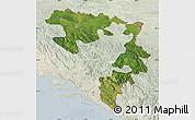 Satellite Map of Republika Srpska, lighten
