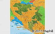 Satellite Map of Republika Srpska, political outside