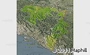 Satellite Map of Republika Srpska, semi-desaturated