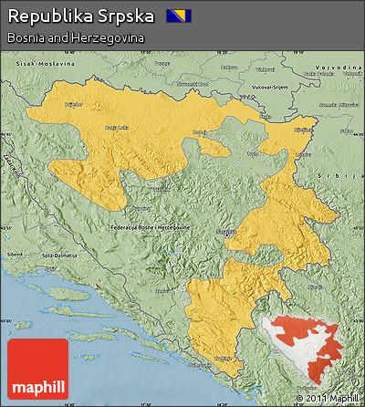 Savanna Style Map of Republika Srpska