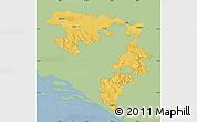 Savanna Style Map of Republika Srpska, single color outside