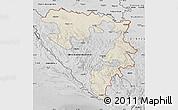 Shaded Relief Map of Republika Srpska, desaturated