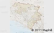 Shaded Relief Map of Republika Srpska, lighten