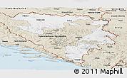 Classic Style Panoramic Map of Republika Srpska