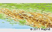 Physical Panoramic Map of Republika Srpska