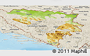 Physical Panoramic Map of Republika Srpska, shaded relief outside