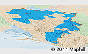 Political Panoramic Map of Republika Srpska, lighten