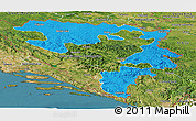 Political Panoramic Map of Republika Srpska, satellite outside