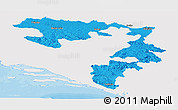 Political Panoramic Map of Republika Srpska, single color outside