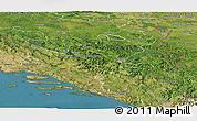 Satellite Panoramic Map of Republika Srpska