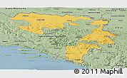 Savanna Style Panoramic Map of Republika Srpska