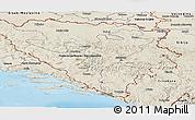 Shaded Relief Panoramic Map of Republika Srpska