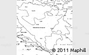 Blank Simple Map of Republika Srpska
