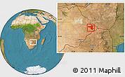 Physical Location Map of SelebiPhikwe