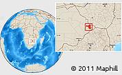Free Physical Location Map of SelebiPhikwe