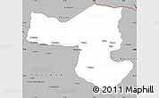 Free Political Simple Map of SelebiPhikwe