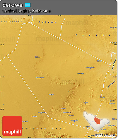 Free Physical Map of Serowe