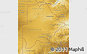 Physical Map of Botswana