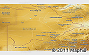 Physical Panoramic Map of Botswana