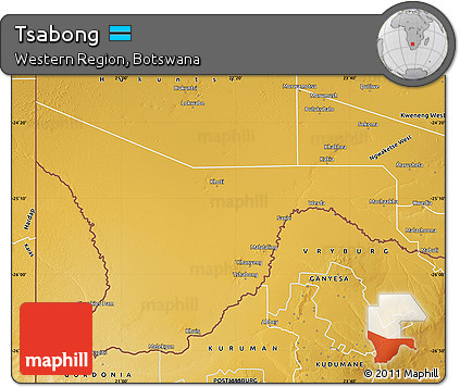Free Physical Map of Tsabong