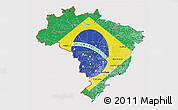 Flag 3D Map of Brazil