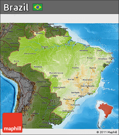 physical features map of brazil parana